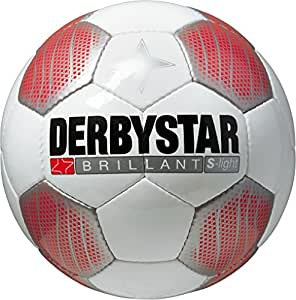 Derbystar Kinder Fussball Brillant Super Light, Weiss/Rot/Schwarz, 4, 1162400132