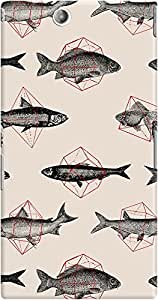 DailyObjects Fishes in Geometrics Case For Sony Xperia Z Ultra