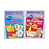 Set Of 2 Disney I Can Learn With Pooh Baby Flash Cards:Poohs First Words & Poohs Go Together Game
