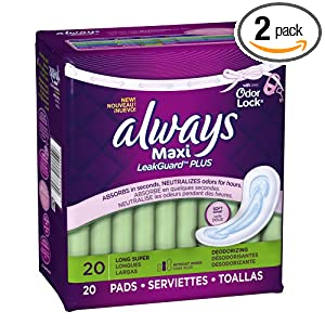 Amazon - 2 Packs of Always Maxi LeakGuard Plus Pads - $2.99