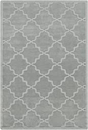 Blue Rug French Country 8-Foot x 10-Foot Wool Handmade Trellis