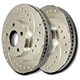 86-91 Oldsmobile Eighty Eight FWD - Front Cross Drilled and Slotted Rotors