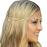 Lowpricenice(Tm) Bling Retro Fashion Chain Jewelry Chain Headband Head Shiny Piece Hair Band Tassels