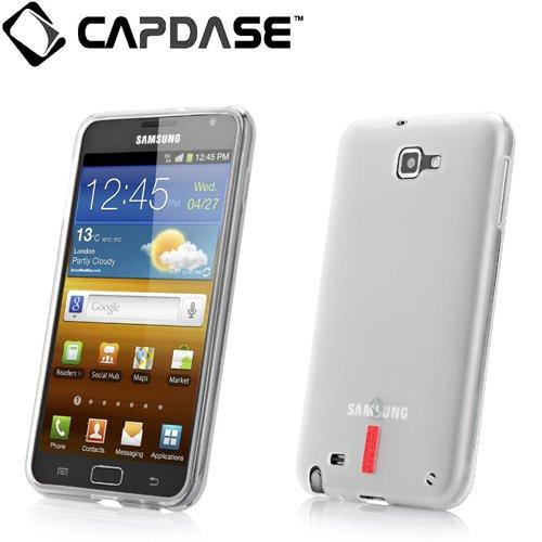 【ストラップホールつき】CAPDASE docomo GALAXY Note SC-05D Soft Jacket 2 XPOSE with Screen Guard Crystal Clear, Clear White ソフトジャケット2 XPOSE (クリスタル・クリアー 液晶保護シート 付き) クリアー・ホワイト SJSGN7000-P202