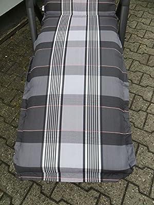 8 cm Luxus Relaxliegenauflage A 055 grau anthrazit, UVP 49,95€ von Madison bei Gartenmöbel von Du und Dein Garten