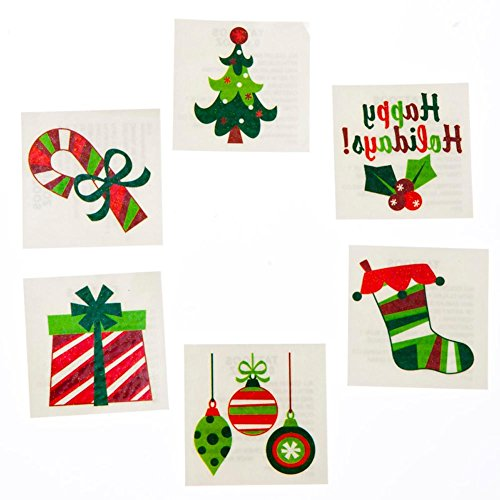 Assorted Christmas Glitter Tattoos