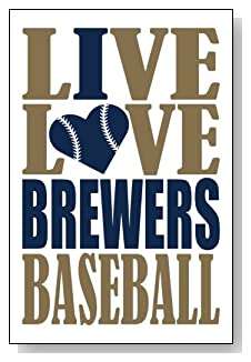Live Love I Heart Brewers Baseball lined journal - any occasion gift idea for Milwaukee Brewers fans from WriteDrawDesign.com