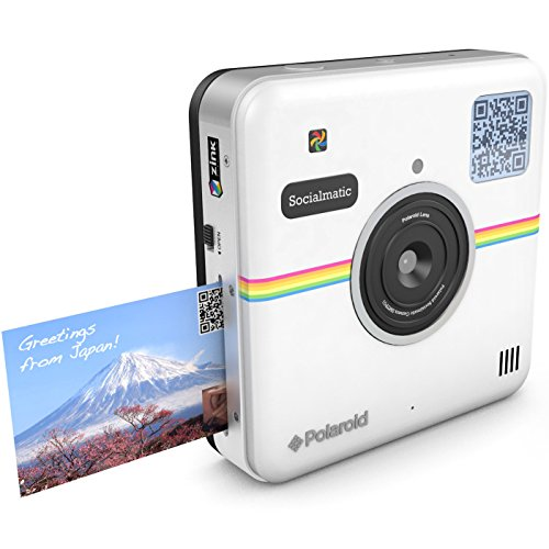 Polaroid Socialmatic 14MP Wi-Fi Digital Instant Print & Share Camera – Share on Socialmatic PhotoNetwork, Facebook, Instargram, Twitter & More – White