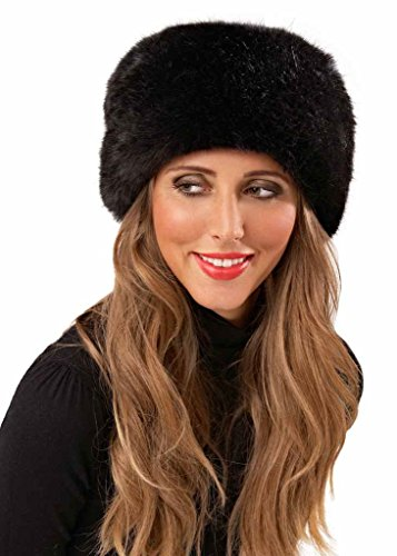 black faux fur hat cossack russian ushanka winter