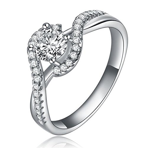 14k White Gold and Diamond Bridal Ring (Ring Diamond White Gold compare prices)
