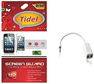 Tidel Ulta Clear Screen Guard for Micromax Juice 3 Plus Q394 With Audio Spliter