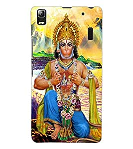 ColourCraft Lord Hanuman Design Back Case Cover for LENOVO A7000