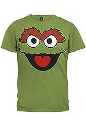 Mens Sesame Street Oscar Face T-shirt