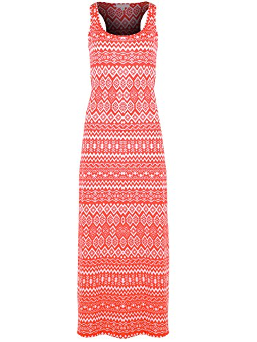 Taylor Perform Women's Sleeveless Tank T Racerback Casual Long Maxi Dress XX-Large Coral