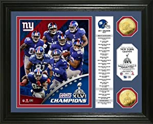 NFL New York Giants Super Bowl XLVI Champions Gold Coin Banner Photo Mint by Highland Mint