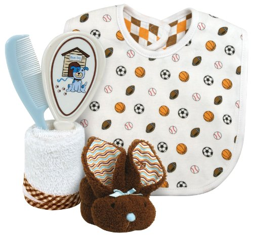 Stephan Baby Sports Fun 4 Piece Bathing Gift Set, White