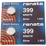 FOSSIL Watches:#399 Renata Watch Batteries 2Pcs