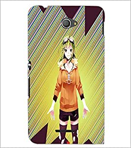 PrintDhaba Cute Girl D-4978 Back Case Cover for SONY XPERIA E4 (Multi-Coloured)