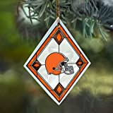 Cleveland Browns Stained Glass Ornament