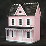 Finished & Ready to Play Dollhouse Farmhouse Color: Pink