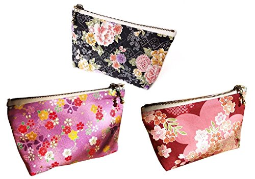 Traditional Japanese Chirimen Styple Wallet Coin Case Kimono Purse Favric