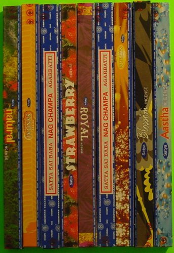 Satya Sai Baba Incense Collection - 25 Boxes, 21 Different - All the Satya Varieties At One Time