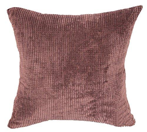 Square/Rectangle Solid Pinkycolor Printed Cushion Cover ChezMax Corduroy Plaid Throw Pillow Case Sham Slipover Pillowslip Pillowcase For Festival Christmas Xmas Decorative