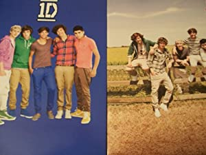 One Direction (1D) 2 Folder Set ~ Outdoor Fun, Boys on Blue from Sky High International