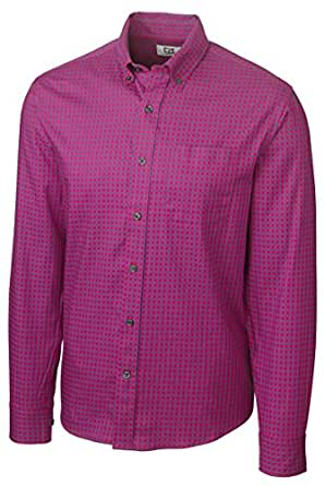 Cutter & Buck MCW01854 Mens L/S Asher Gingham, Advantage/Canal-M