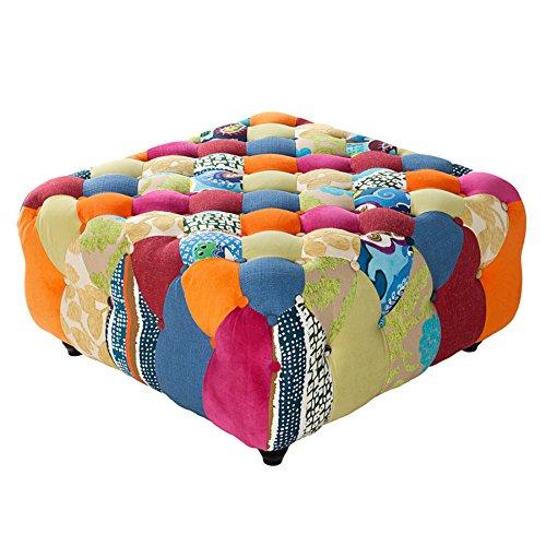 design chesterfield hocker patchwork paradise bunt polsterhocker merhfarbig. Black Bedroom Furniture Sets. Home Design Ideas