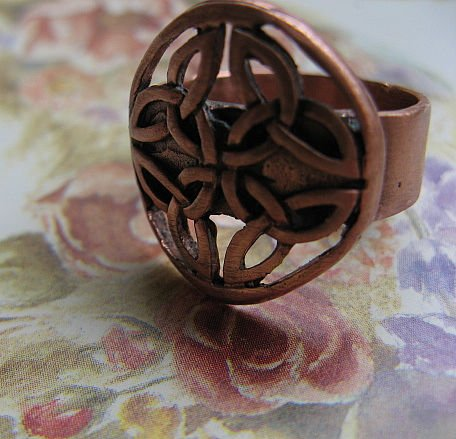 Solid Copper Ring CR2011 Size 8