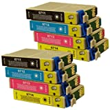 8 CiberDirect Compatible Ink Cartridges for use with Epson Stylus SX515W Printers.