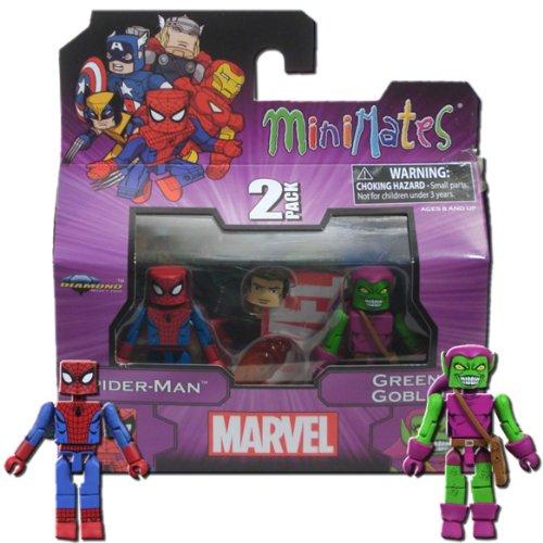 MiniMates: Marvel Best of Series 1 Spider-Man and Green Goblin Mini Figure 2-pk (Marvel Minimates Green Goblin compare prices)