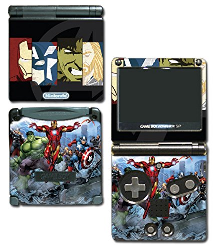 Captain America Comic Thor Hulk Iron-Man Hawkeye Video Game Vinyl Decal Skin Sticker Cover for Nintendo GBA SP Gameboy Advance System (Gameboy Advance Captain America compare prices)