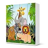 Mbel-Sticker-Folie-fr-IKEA-Pax-Schrank-236-cm-Hhe-4-Tren-Sticker-Dekorfolien-Mbel-Tattoo-Einrichtung-umgestalten-Dekor-Design-Motiv-Wild-Animals