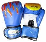 軽くて 通気性 のよい ボクシング グローブ メッシュ 素材 で 練習 も 快適 ( 大人用 ( 青 ))