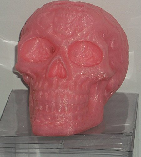 "3d Printed Pink Skull Bank with Removable Plug in a Gift Box (5""x 5""x4"")"