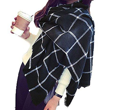 Minetom Donna Moda Inverno Caldo Sciarpa Scialle Lungo Morbidi Sciarpe