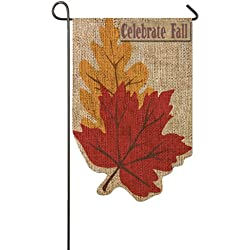 Welcome Fall Leaves Garden Flag