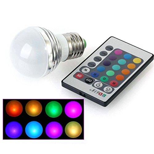 Pixnor E27 3W AC 85V-265V 220LM Farbwechsel RGB LED Lampe Licht mit 24-Tasten IR-Fernbedienung Controller