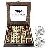 Chocholik - 25Pc Yummy Belgium Chocolates With 5gm X 2 Pure Silver Coins - Diwali Gifts