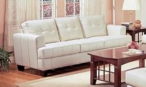 Coaster Samuel Collection Cream Leather Sofa