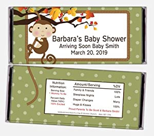 fall baby shower candy wrapper favors health personal