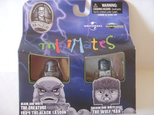 Universal Monsters Exclusive Minimates The Creature The Wolfman Black White - 1