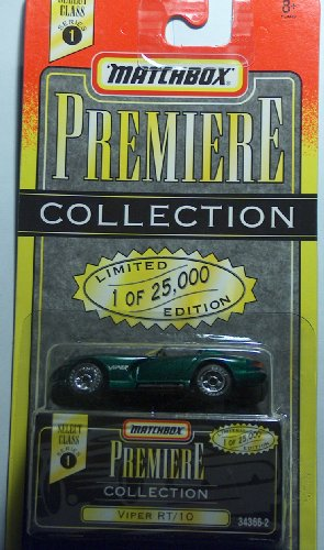 Matchbox Premiere Collection Green Viper RT/10 Limited 1 of 25000 Series 1 - 1