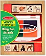 Melissa & Doug - 11638 - Loisir Créatif - Jeu de timbres jeunes animaux du zoo