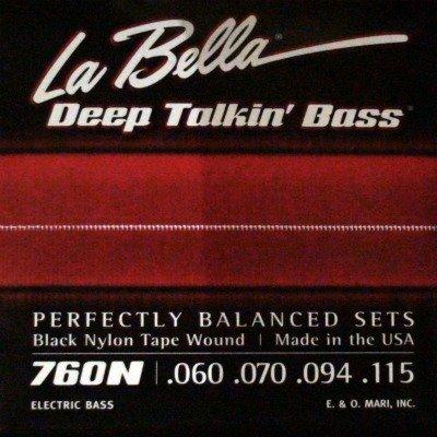 LaBella 760N La Bella Blk Tape Bass Set