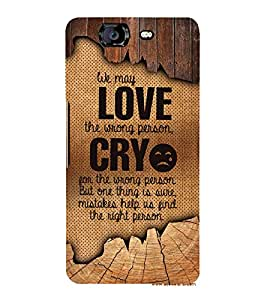 Love Wrong Person 3D Hard Polycarbonate Designer Back Case Cover for Micromax Canvas Knight A350