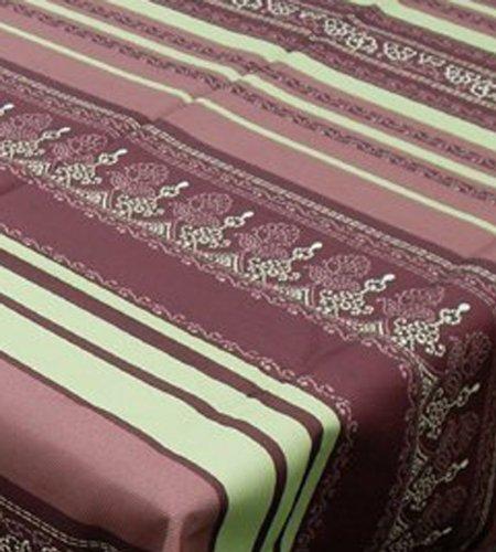 Abverkauf-6050-Gartentischdecke-Bunte-Lotus-Eckig-150-x-240-bzw-150x240-bzw-240x150-cm-Braun-Gn-mit-Lotus-Effekt-Wasserabweisend-Tischdecke-Tischwsche-fr-Garten-Balkon-Kche--von-DecoHometextil-6050