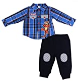 Disney Baby Boy's Plaid Shirt & Fleece Pants, 0-3 Month